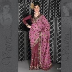 Flower Bordered Saree