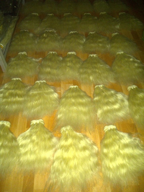 Bleached Hand Weft Hair