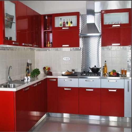 Modular kitchen stainless steel in bengaluru karnataka for Steel modular kitchen designs