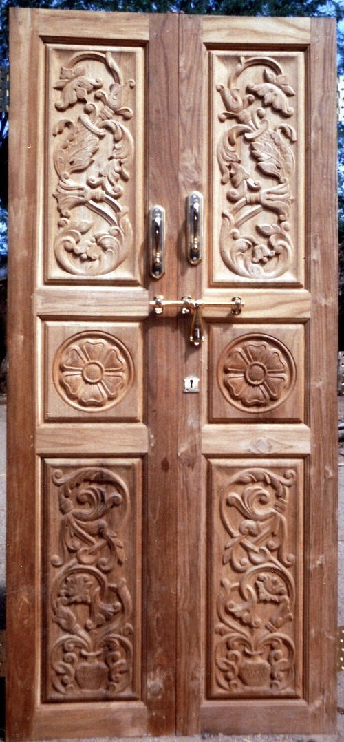 Cnc wood carving door designs images for Door design cnc