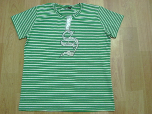 Girls Green Striped Tops