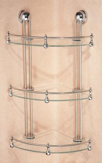 3-Tier Corner Bathroom Glass Shelf E250TA in Ningbo ...