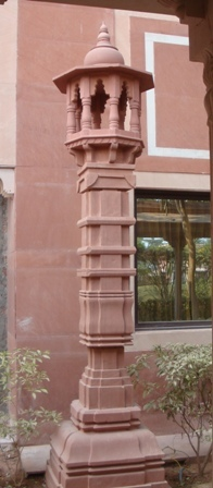 Stone Carved Lamp