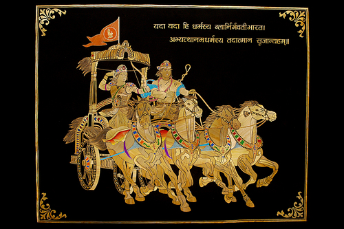 Krishna Arjun Rath Paintings In Navsari, Gujarat, India