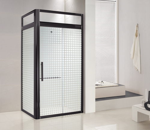 Square Shape Black Aluminum Frame Shower Enclosures In Foshan Guangdong China Foshan Role