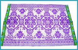 Purple Phool Plastic Mats
