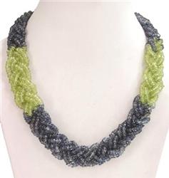 Peridot Braided Necklace