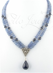 Sapphire Beaded Necklace