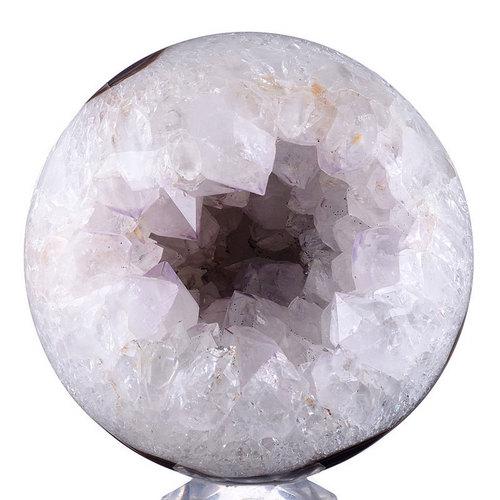 Natural Geode Amethyst Sphere Carving