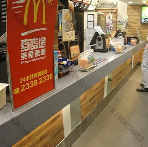 Kingkonree solid surface shop counter design in shenzhen for International decor surfaces
