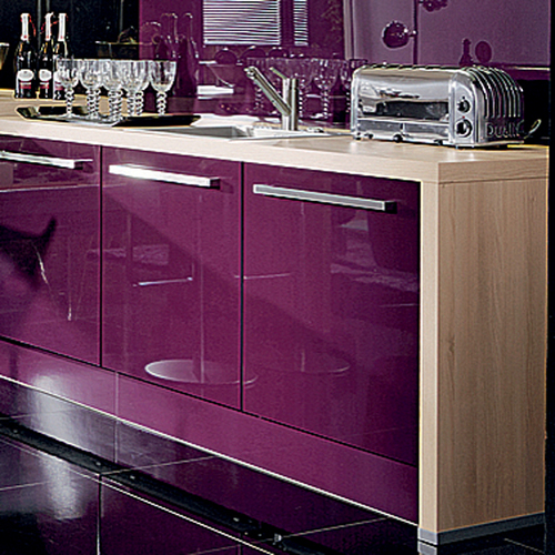 Plum Kitchen Paint: Finished Lacquered Glass In Kolkata, West Bengal, India
