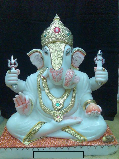 Marble Lord Ganesh Statues In Jaipur Rajasthan India