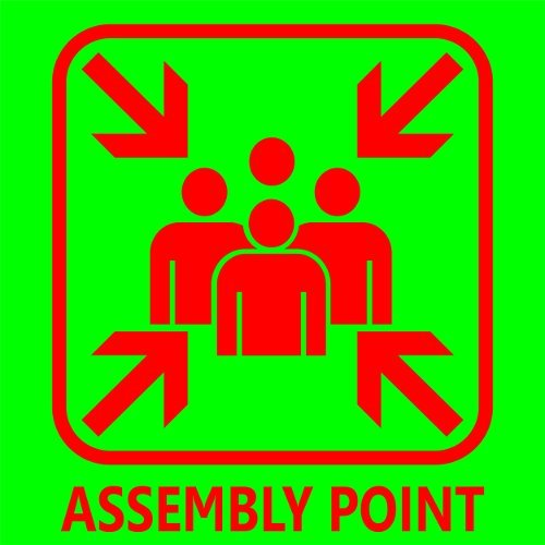Assembly Point Sign Board In Goregaon E Mumbai