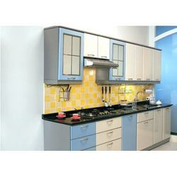 single wall modular kitchen in aligarh uttar pradesh