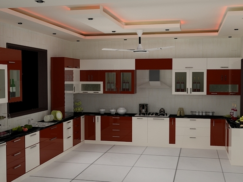 Kitchen interior decoration services in new area noida for Interior decoration pictures kitchen indian