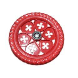 Red Flower Bicycle Tyre
