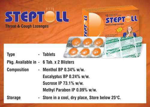 Steptoll - Cough Lozenges Tablets