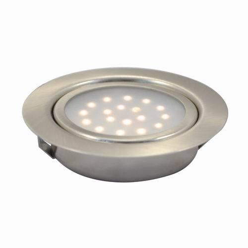 led recessed round swivel under cabinet puck light. Black Bedroom Furniture Sets. Home Design Ideas