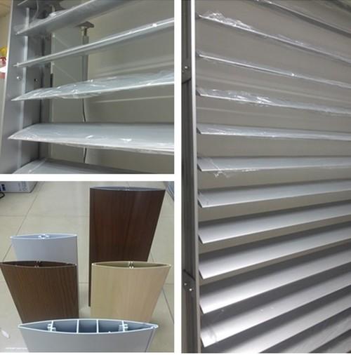 Airfoil aluminium architectural facade louver in guangdong guangdong
