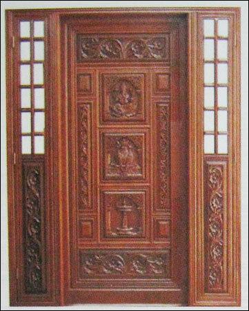 Teak door designs india joy studio design gallery best for Indian house main door designs
