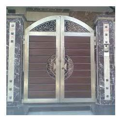 Stainless steel designer main gate in ashok vihar i ii for International decor main gates