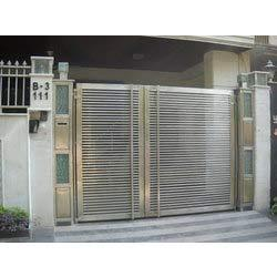 Stainless steel rectangular main gate in ashok vihar i for International decor main gates
