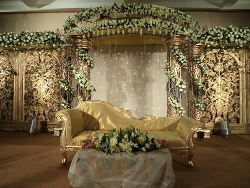 Stage Wedding Photo Wedding Ceremony Flower Stage