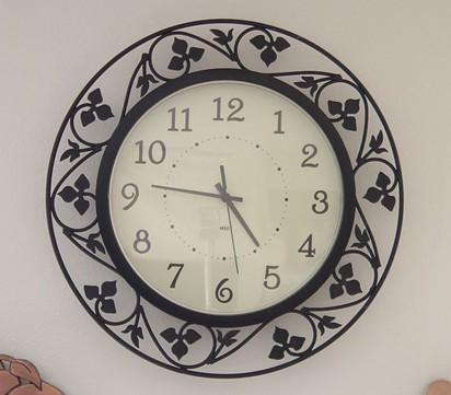 wrought iron wall clock in dongguan guangdong china