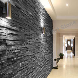Black Slate Wall Cladding Tiles In Road No 1 Vki