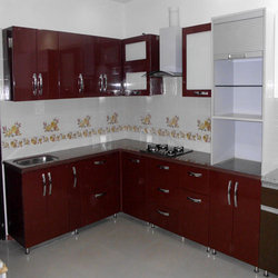 High gloss acrylic kitchen shutters in pitampura delhi for Acrylic kitchen cabinets india