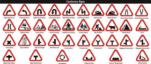 Cautionary Sign Board in Vashi, Navi Mumbai, Maharashtra ...