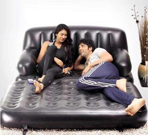 Inflatable Sofa Bed Flipkart: Inflatable Multi Functional Air Bed Chair Sofa Couch Tv