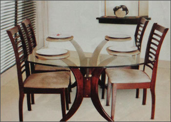 seater glass top dining table in erandwane pune maharashtra india