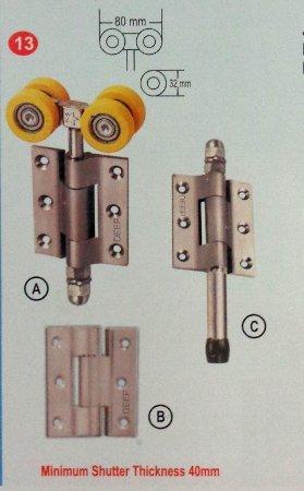 Durable Ss Matt Finish Side Hung Door Folding System