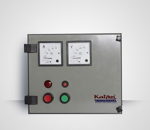 Single phase control panel for pump in ahmedabad gujarat for Motor starter control panel