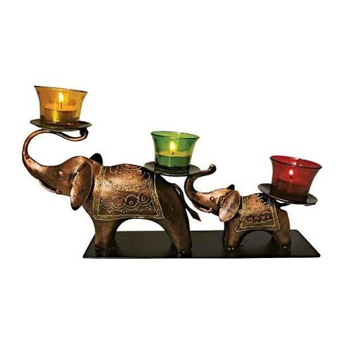 Decorative Metal Elephant T Lite