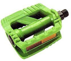 Bicycle Pedal Green Color With Reflector