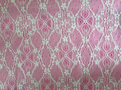 Floral Jacquard Nylon Lace Fabric