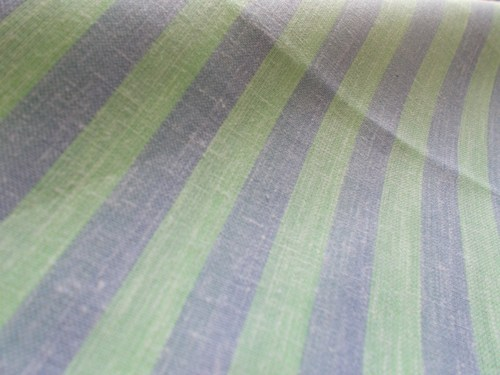 Linen Shirting Fabric Striped (Green)