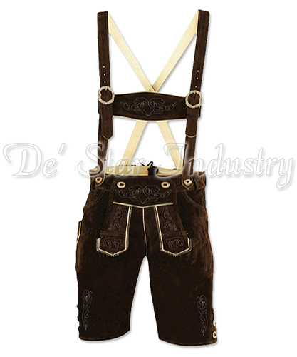 Men Leather Lederhosen Bavarian Costumes