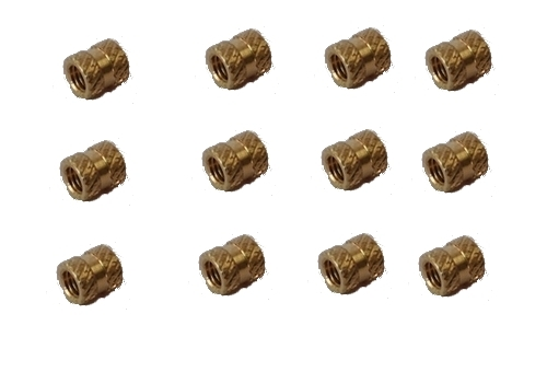 High Grade Brass Cross Knurled Inserts
