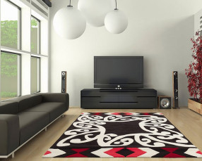 Joy Hand Tufted Rugs (Red)