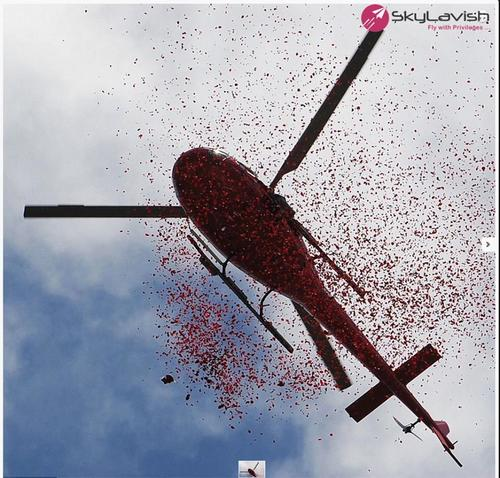 Helicopter Flower Dropping Services