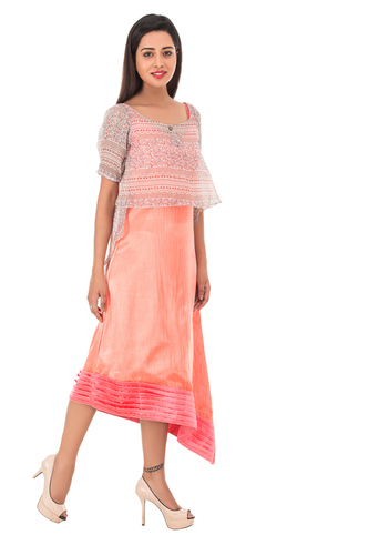 Ladies Gown With Ponchu