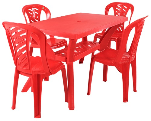 Savor Cross Plastic Dining Table and Chair in Ahmedabad  : 995 from www.tradeindia.com size 500 x 400 jpeg 47kB