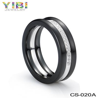Round Black Ceramic Rings
