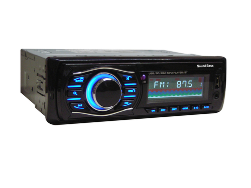 Sound Boss Sb-34 Bluetooth Wireless With Phone Caller Id Receiver Car Media Player