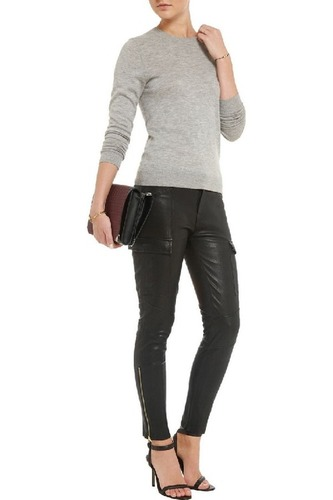 Women Stretchable Leather Leggings