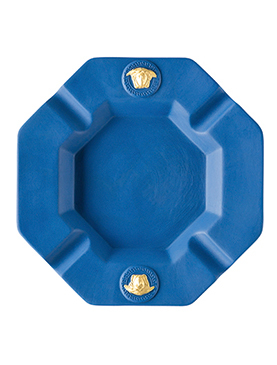 Medusa Gorgona Popdeep Blue Ashtray 14 Cm