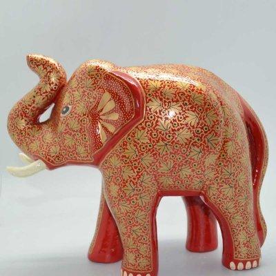 Papier Mache Elephant With Trunk